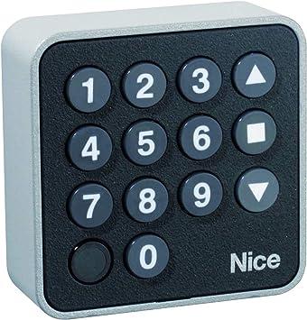 NICE EDSW Teclado de código inalámbrico para receptor NICE Flor, código de acceso para puertas correderas y puertas de garaje