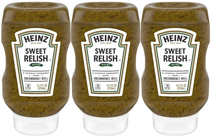 Amazon Com Heinz Sweet Relish 12 7 Ounce Bottle Pack Of 3 Gourmet Food Grocery Gourmet Food