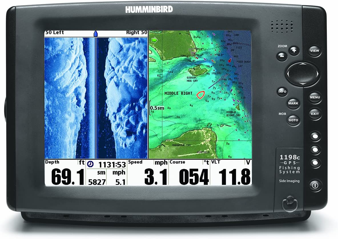 Humminbird 1198cx si Combo Colour fishfinder/Plotter Side/Down Imaging exc. transducer c/w ext. GPS Antenna: Amazon.es: Deportes y aire libre