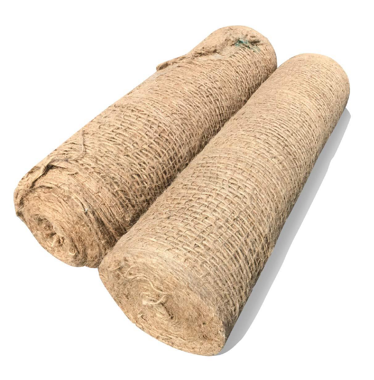 Sandbaggy Jute Netting Roll – Erosion Control Matting Blanket – Jute Matting – Jute Mesh Blanket – Jute Netting Installation for Erosion Control – 225 ft Length by 4 ft Width 2 Rolls