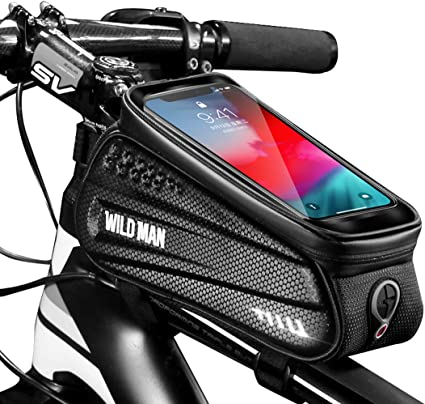Cycling Bike Front Frame Bag Waterproof Bicycle Phone Holder Pannier Pouch Tube