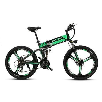 Amazon Com Cyrusher Folding Electric Bike Inch Mountain