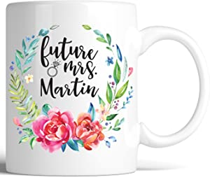 Personalized Future Mrs Coffee Mug Bride to be Bridesmaid Gift Custom Bondi Boutique