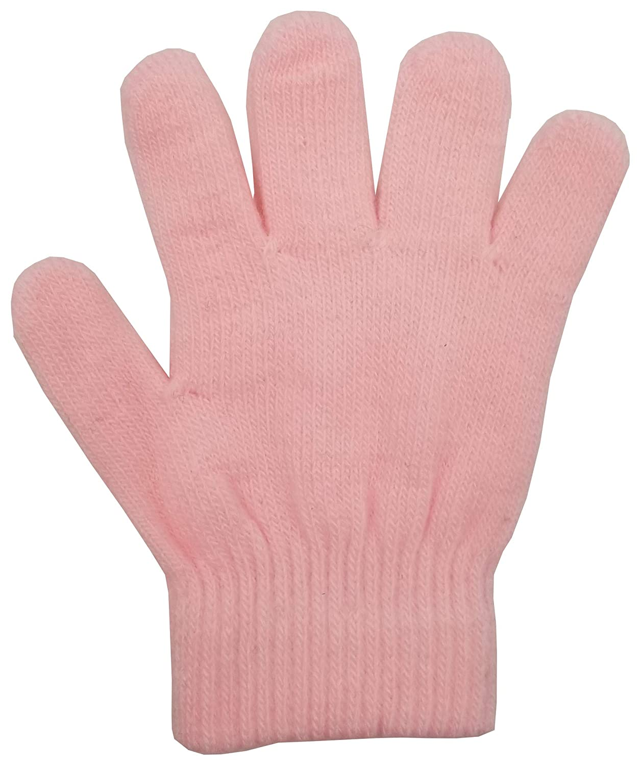 Cute Colorful Stretchy Wholesale for Boys Girls Toddlers Ages 2-6 24 Pairs Warm Kids Winter Magic Gloves