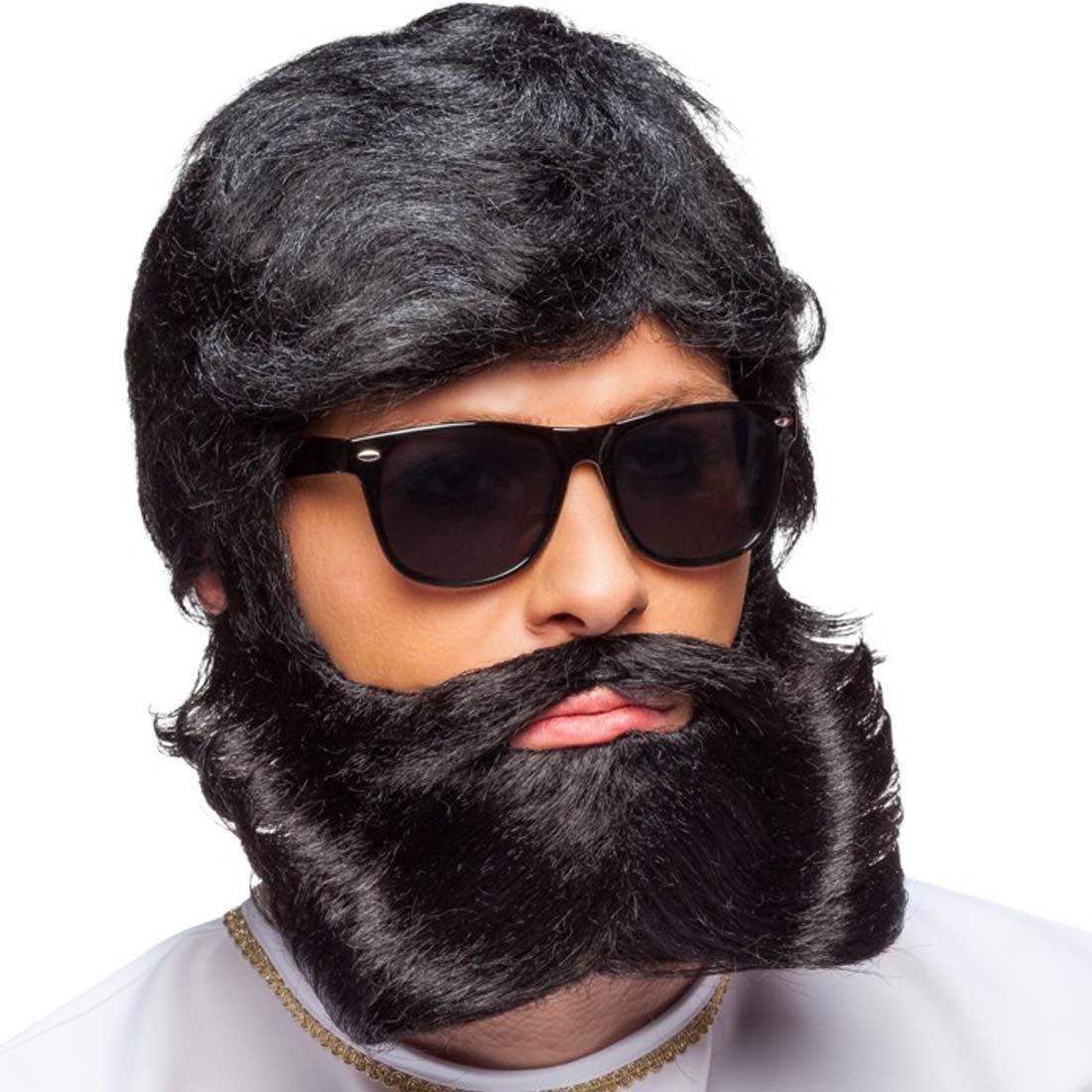 Amakando Barba Emperador Falsa Barba roquero Negro Caracterización ...