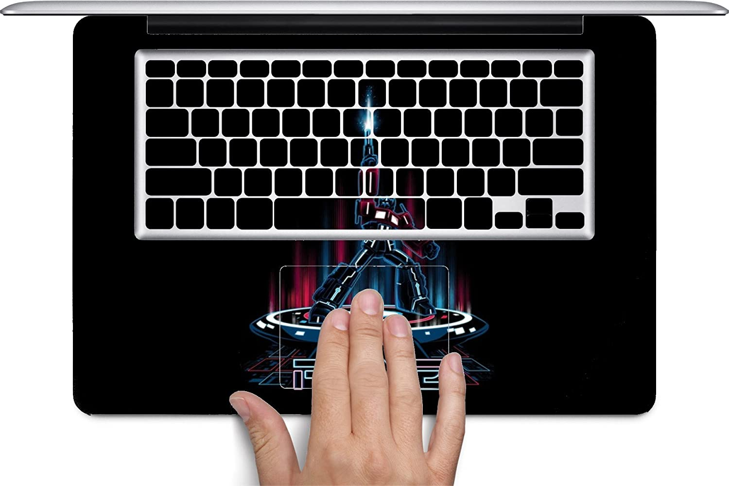 Optimus Prime Tron Crossover Art Keyboard Decals by MWCustoms for 12 inch MacBook
