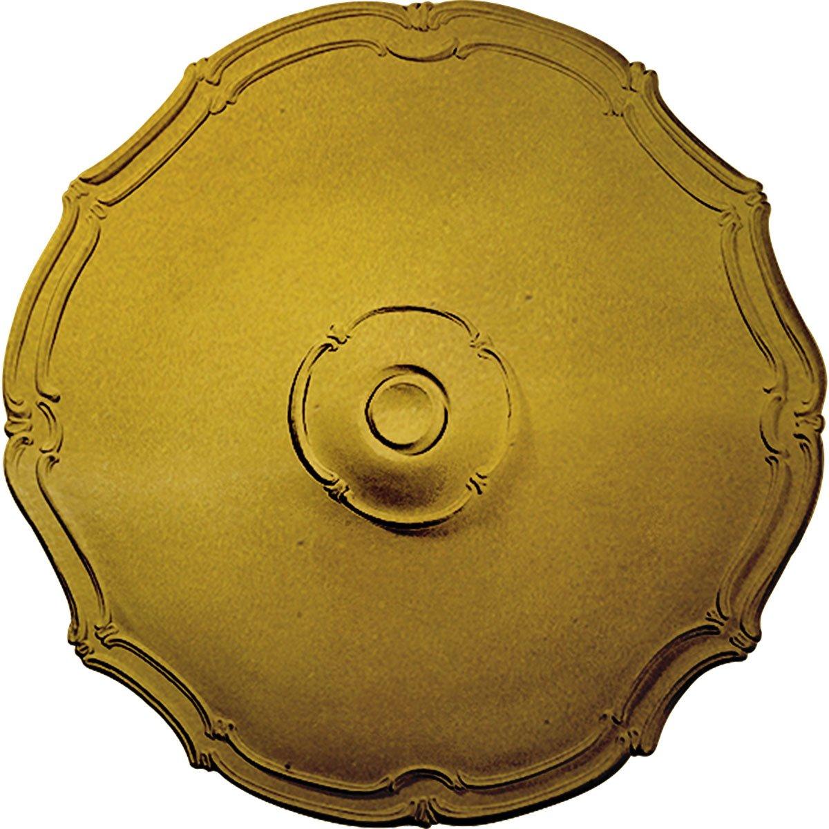 Ekena Millwork CM18PORGS Pompeii Ceiling Medallion, 18 7/8'' OD x 1 1/2'' P, Rich Gold