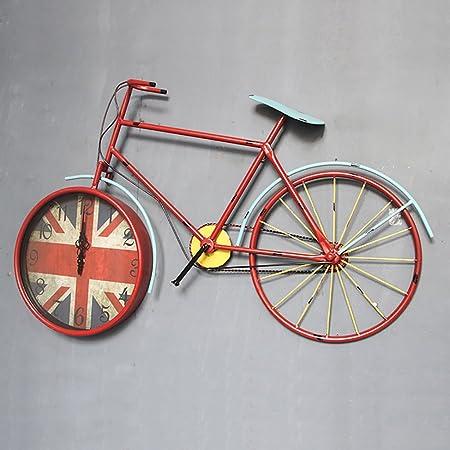Relojes De Pared Arte De Hierro Silencioso Reloj De Bicicleta ...