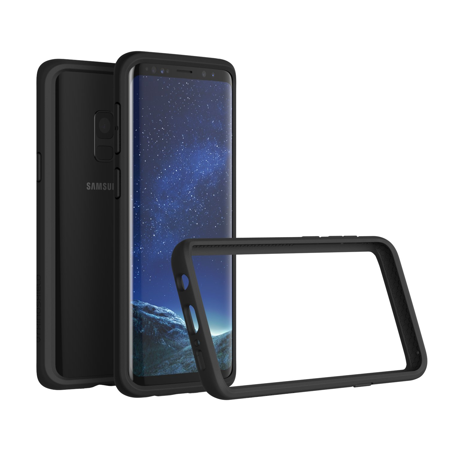 RhinoShield Bumper Case for Galaxy S9 [NOT Plus] | [CrashGuard] | Shock Absorbent Slim Design Protective Cover - Compatible w/Wireless Charging [3.5M / 11ft Drop Protection] - Black by RhinoShield