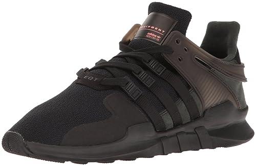 adidas Originals Men's Eqt Support Adv Fashion Sneaker, Black/Black/Turbo, 4