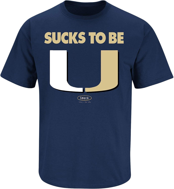 Smack Apparel Notre Dame Football Fans. Sucks to Be U Navy T-Shirt (Sm-5X)