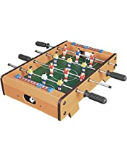 Invero® Deluxe Mini Wooden Table Top Football Foosball Family Fun Game - Indoor and Outdoor Soccer Set includes 12 Men, 2 Balls, 2 Scorers - 51 x 51 x 10 cm