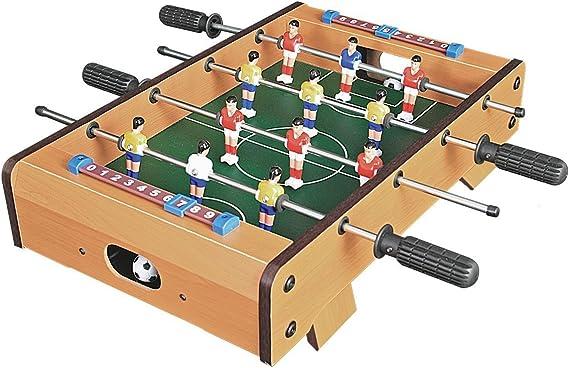 Invero® - Juego de mesa de madera de futbolín para familia de futbolín, juego divertido – juego de fútbol para interiores y exteriores incluye 12 hombres, 2 bolas, 2 cortinas – 51 x 51 x 10 cm: Amazon.es: Hogar