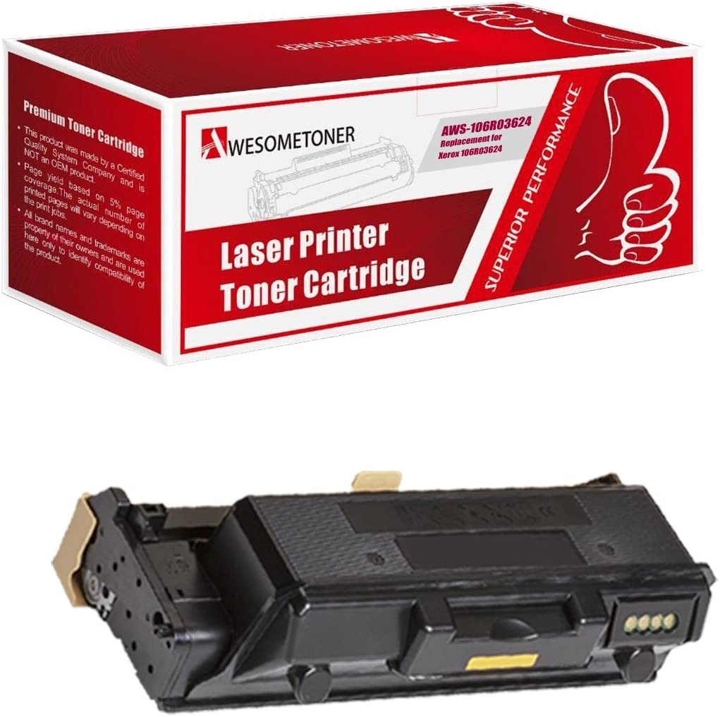C7030 Awesometoner Compatible High Capacity Toner Cartridge Replacement for Xerox 106R03741 106R03744 106R03743 106R03742 use with VersaLink C7020 C7025 Black, Cyan, Yellow, Magenta, 4-Pack