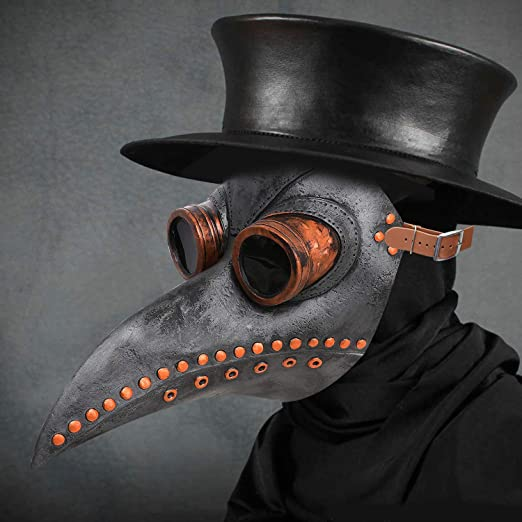 Halloween party cosplay Props Plague Doctors bird mouth Masks Full set clothing