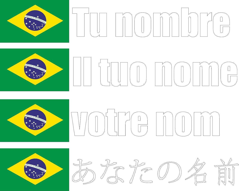Cartella Nome Personalizzato pi/ù Banner Bici Carattere Nero Italia Adesivo in Vinile Stampato per Auto Muro JINTORA Moto - 90x18 mm Porta frigo ECC
