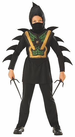 Rubies - Disfraz de ninja mortal para niño, infantil 7-8 años (Rubies 641144-L)