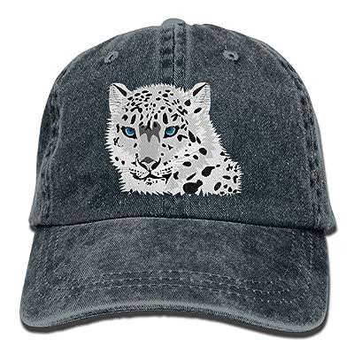 Men Women Animals Tiger Snow Adjustable Vintage Baseball Caps Washed Cowboy Dyed Denim Hat Unisex