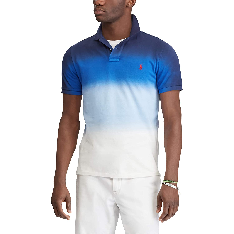 Polo Navy Dip Slim Mesh Ralph White Lauren Custom Fit Dye OiukTwPZX