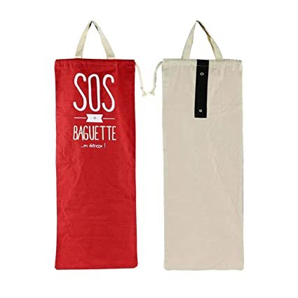 Bolsa para pan (SOS baqueta - rojo: Amazon.es: Hogar