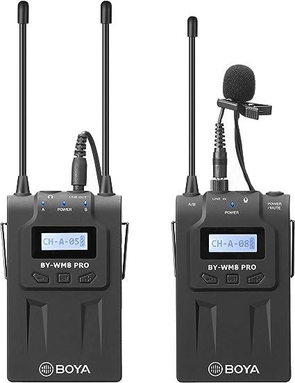 Amazon Com By Wm8 Pro K1 Boya Uhf Dual Channel Wireless