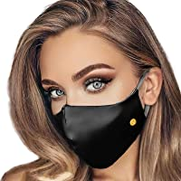 Pure Mulberry Silk Face Mask - Silk Masks for Women with Filter Pocket by