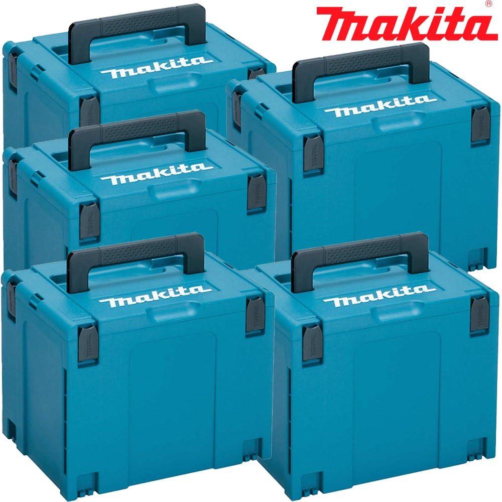 Makita Pack of 5 Boxes 821552-6 MakPac-Juego de 5 Conectores apilables (396 mm x 296 mm x 315 mm): Amazon.es: Bricolaje y herramientas