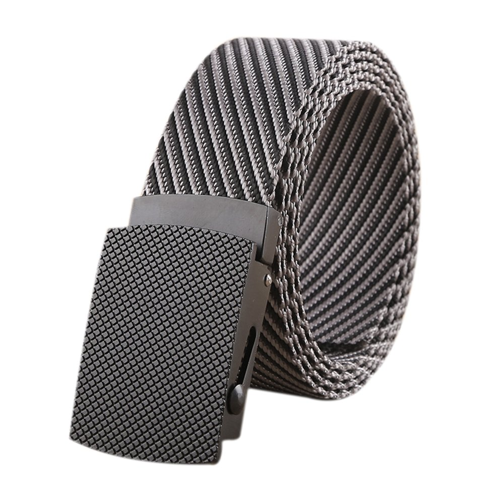 ITIEZY Nylon Belt Outdoor Men's Military Tactical Belt Casual Belt Metal Automatic Buckle Webbing Belts