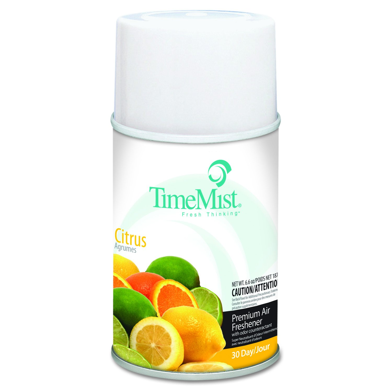 TimeMist 1042781 Metered Fragrance Dispenser Refill, Citrus, 6.6oz, Aerosol (Case of 12)