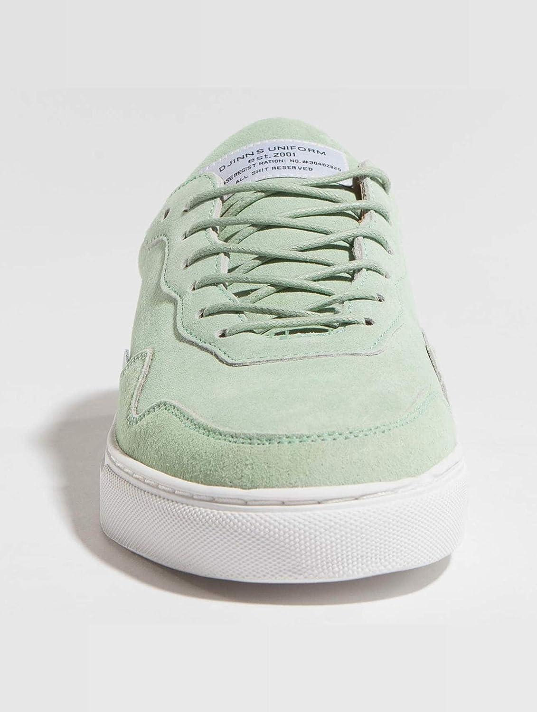 Djinns MocLau Mix Yarn Olive Schuhe Sneaker Grün Weiß