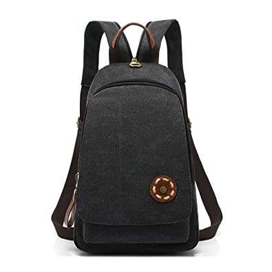Melissa Wilde Women Backpack Simple Chest Pack Small Vintage Canvas Backpacks School Bags Casual Travel Mochila