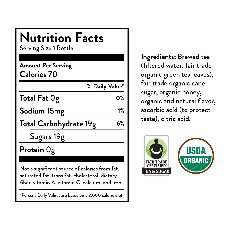 Honest Tea Organic Fair Trade Honey Green Gluten Free, 16.9 Fl. Oz, 33 Pack (Honey Green Tea (33 Pack)) by Honest Tea (Image #6)