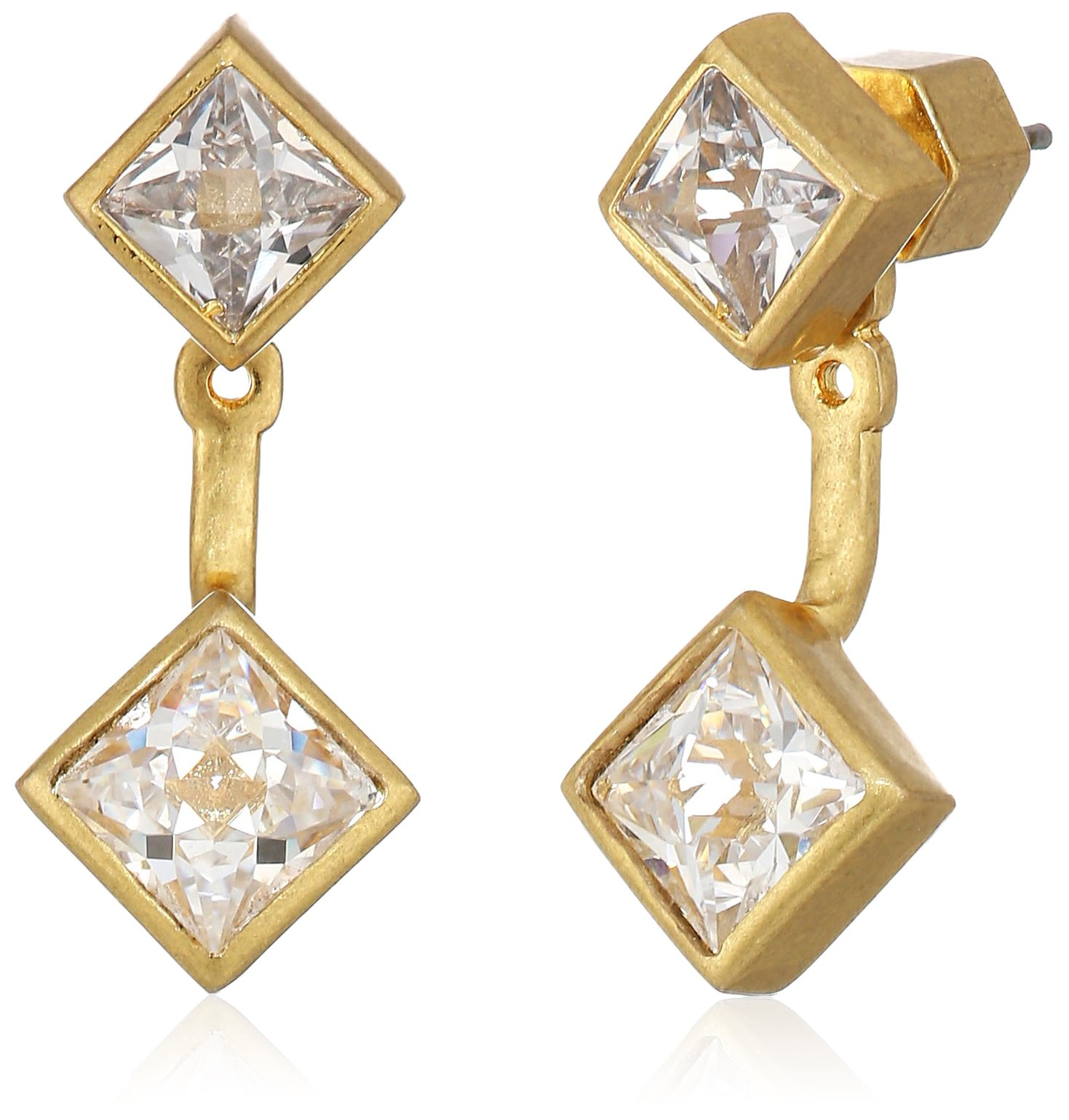 Nicole Miller Pyramid Gold Earrings Jacket