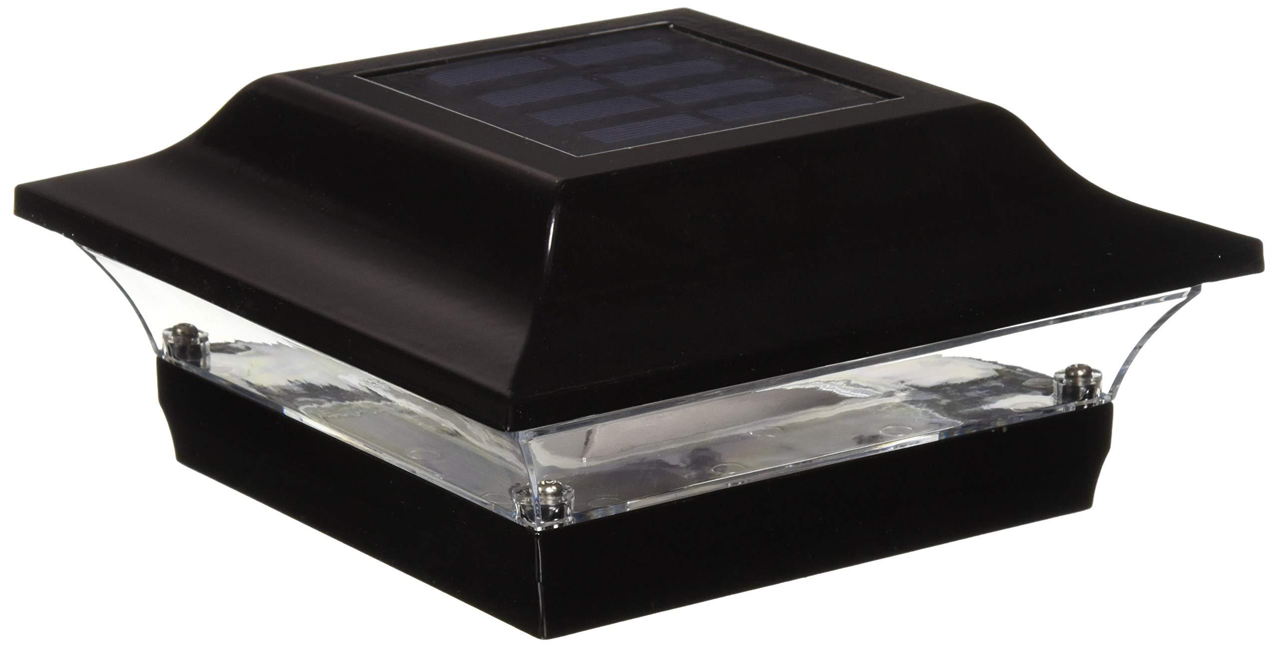 Classy Caps SL214B Aluminum Imperial Solar Post Cap, 5 x 5, Black