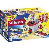 Vileda Premium 5 Komplett-Set, extra breiter Bodenwischer und Eimer mit Powerschleuder