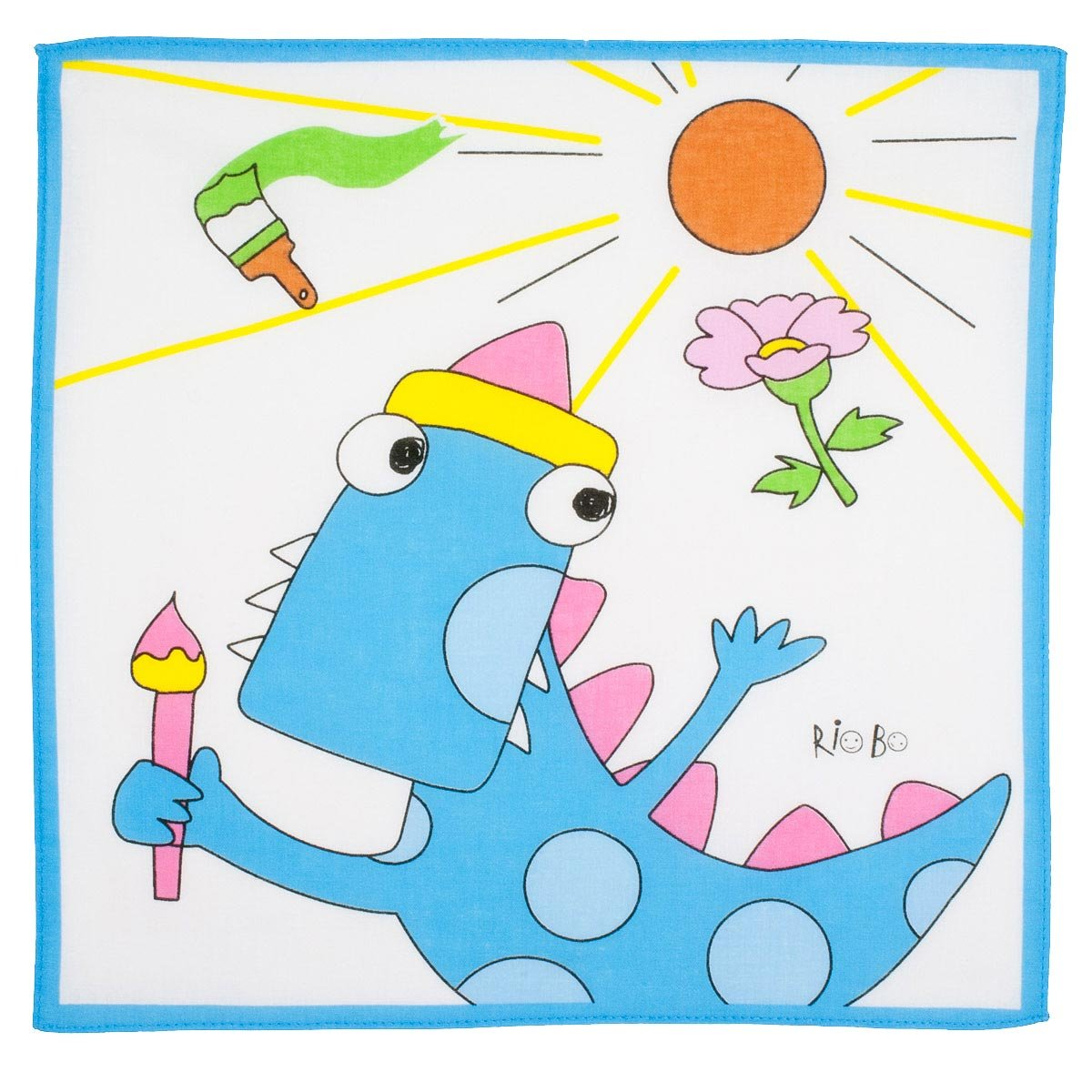 """Dino"" child handkerchiefs - 12"" square - 6 units Merrysquare"