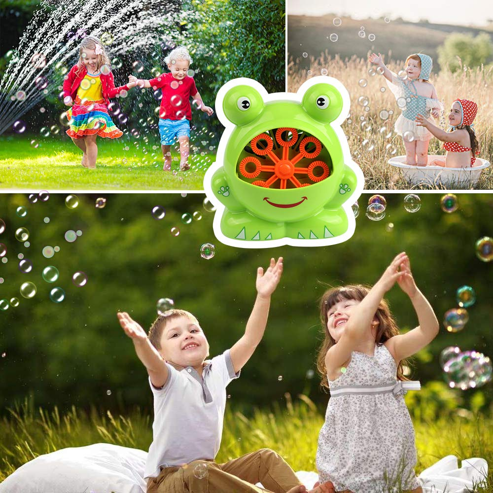 Automatic Frog Bubble Blower Machine Make Bubbles for Kids Birthday Party, Wedding, Indoor and Outdoor Games by Kidcheer (Image #3)