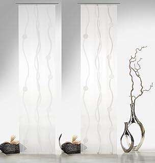 Home Fashion 87152 Carlisle - Panel japonés con impresión Digital (con rieles y sujeciones, 245 x 60 cm), poliéster, Morado, 245 x 60 cm: Amazon.es: Hogar