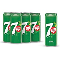 7up Carbonated Soft Drink, Cans, 6 x 245 ml