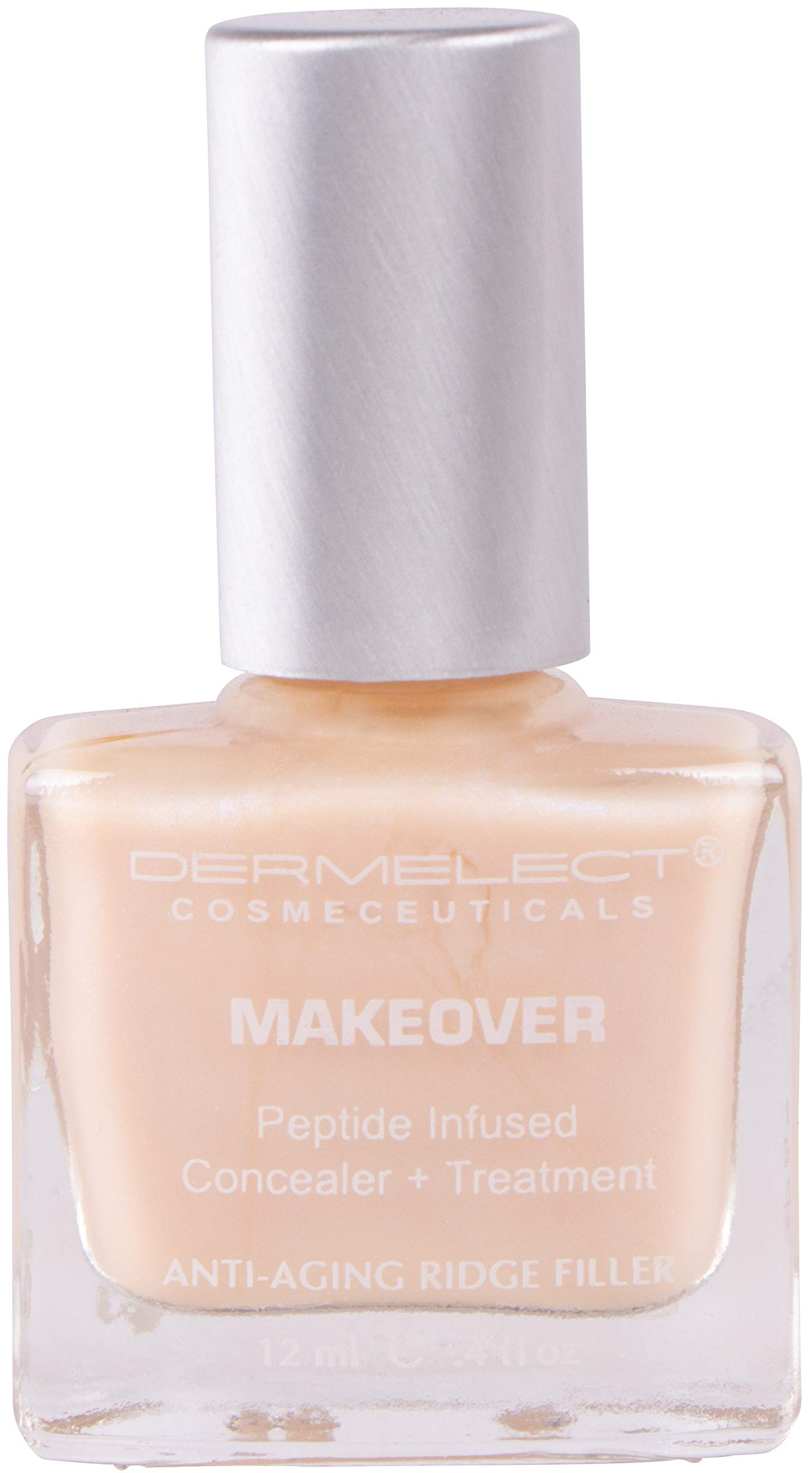 DERMELECT COSMECEUTICALS Makeover Ridge Filler Base Coat - Conceal And Fill In Unsightly Nail Ridges & Strengthen Brittle Nails (0. 4 Fluid Ounce / 11 Milliliter) by Dermelect