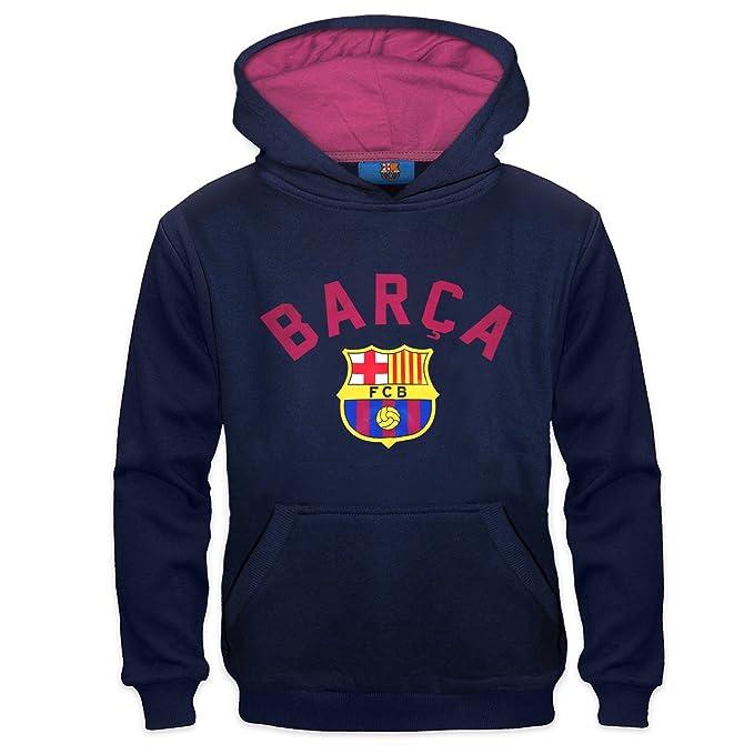 FC Barcelona - Sudadera oficial con capucha - Para niño - Con el escudo del club - Forro polar: Amazon.es: Ropa y accesorios