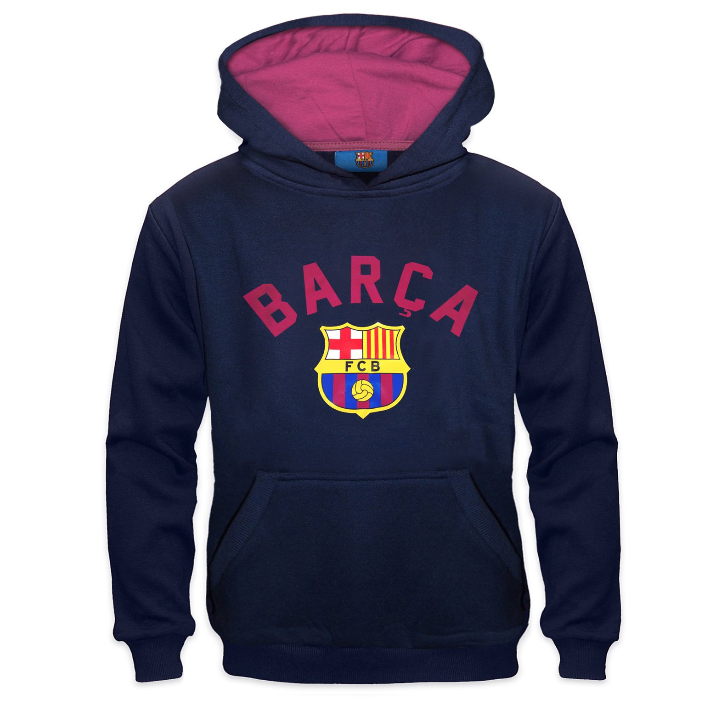 FC Barcelona Official Soccer Gift Boys Graphic Fleece Hoody 10-11 Yrs LB