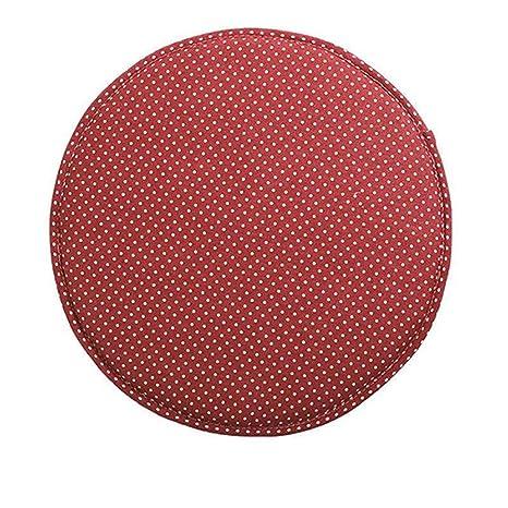Amazon.com: Stripe Antiskid Cotton Linen Round Chair Seat ...