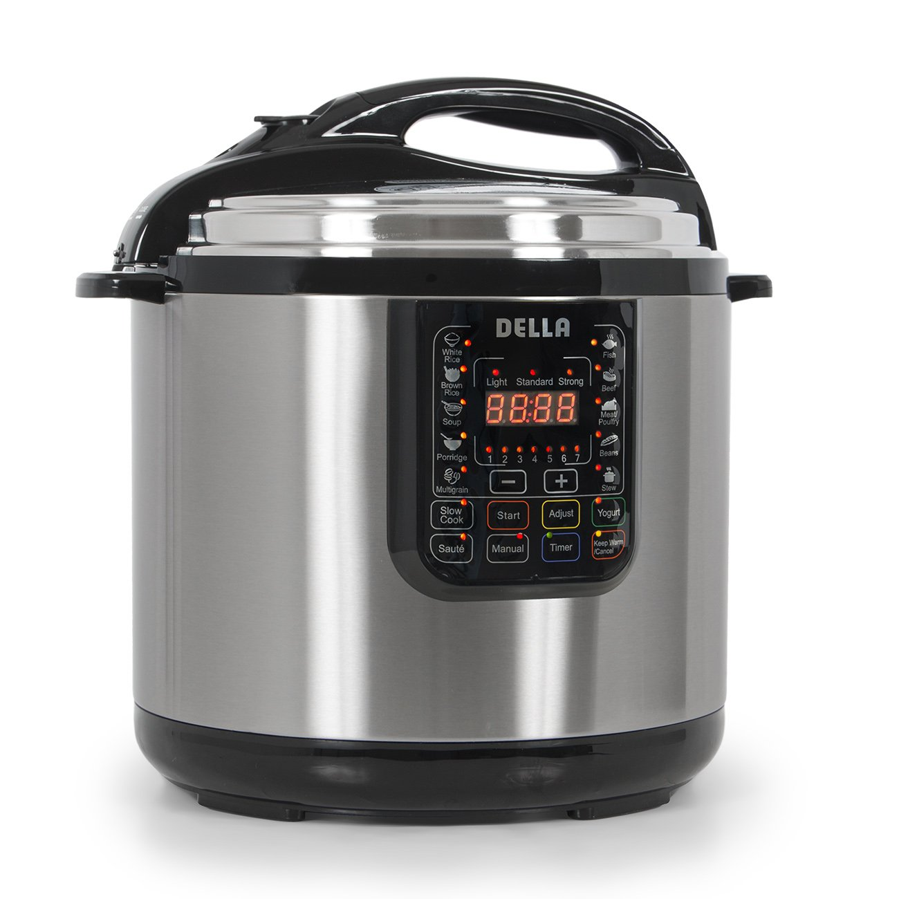 Della 048-GM-48261 Electric XL Pressure Cooker 12 Quart Stainless Steel