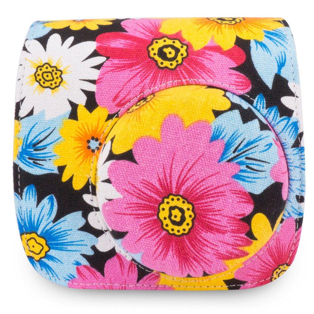 Wolven Protective Case Bag Purse Compatible The/Fugifilm Mini 9 Green Vintage Rose Mini 8+ Camera Mini 8