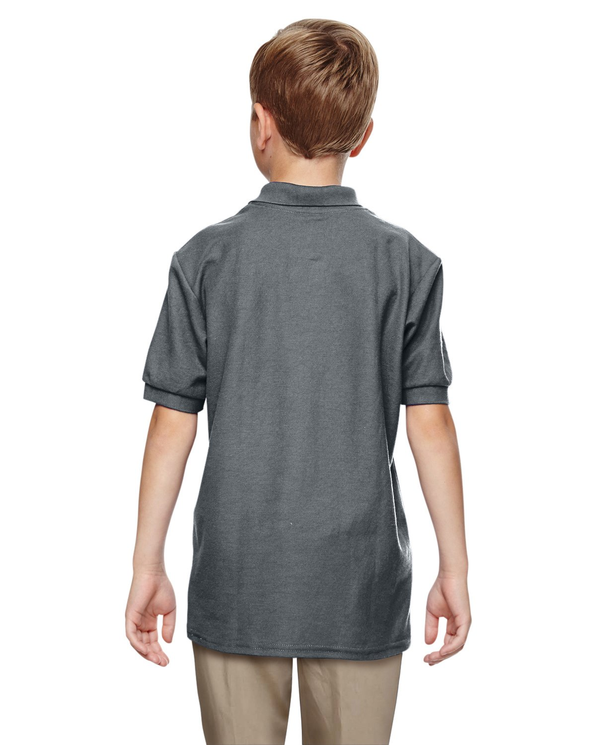 Gildan Boys DryBlend 6.3 oz. Double Piqué Sport Shirt (G728B) -Dark Heath -S-12PK by Gildan (Image #4)