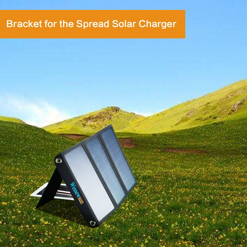 Foldable Solar Charger 21W for cell phones, iphone, iPad, iPods and Android 5V USB Charging devices with High Efficiency SunPower foldable Solar Panel Charger by Winnewsun (Image #5)