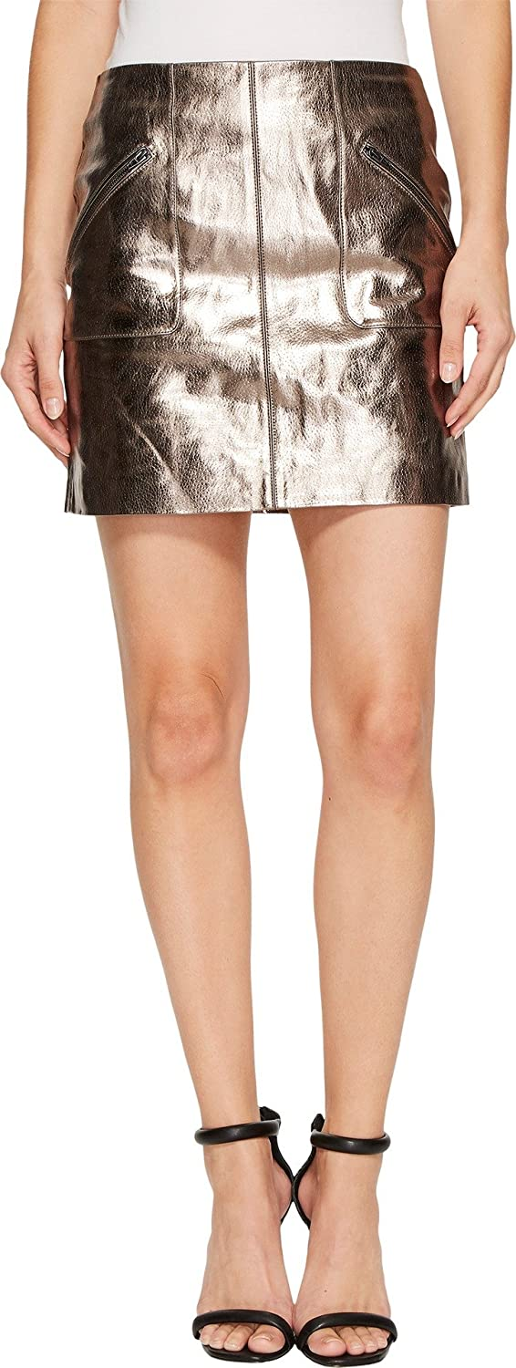 49ecd9f51b6 Blank NYC Women s Metallic Skirt in Mercury Mercury Skirt at Amazon Women s  Clothing store