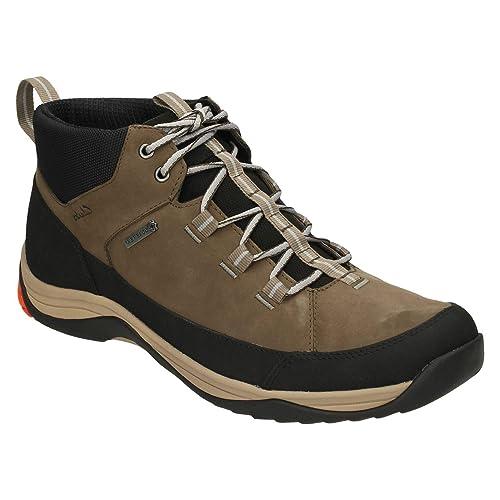1388339068ed5 Clarks Casual Hombre Botas Baystone Hi Gore-Tex® En Nobuk Marrón Tamaño 47   Amazon.es  Zapatos y complementos