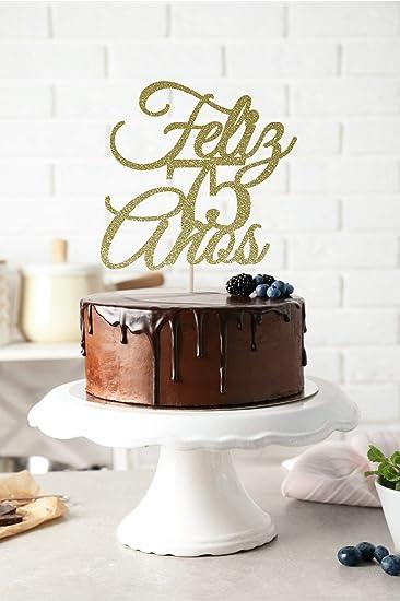 Feliz 75 Anos Cake Topper Birthday Cake Topper Feliz ...